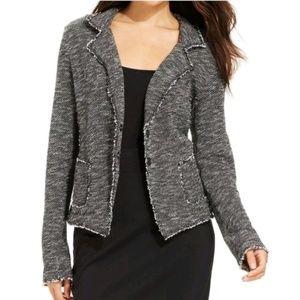 Eileen Fisher Raw Edges Tweed Blazer Size Small